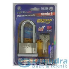 AMERICAN SECURE 50 mm Long Gembok Panjang Grade 9 SUS 304 Series