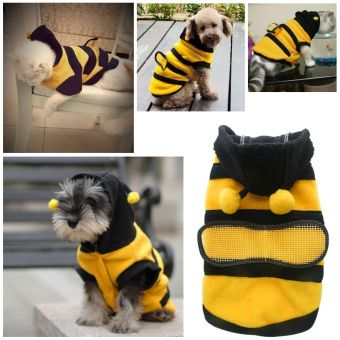Anak anjing kucing Pet Bee Baju Kostum jaket mantel burung gagak kelabu pakaian 5 ukuran 14 - 2