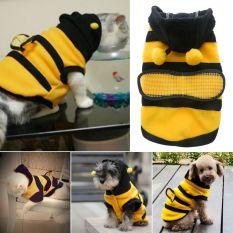 Anak anjing kucing Pet Bee Baju Kostum jaket mantel burung gagak kelabu pakaian 5 ukuran 14