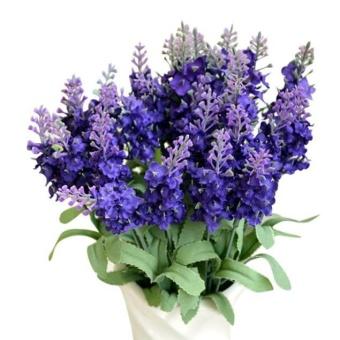 harga Artificial Fake Flower Bush Bouquet Home Wedding Decor Dark Blue -intl Lazada.co.id