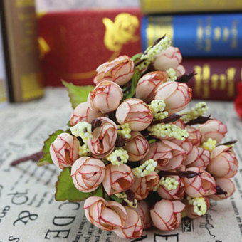 ... Artificial Flower Rose Bouquet Home Hotel Room Wedding Party GardenDecoration - intl - 4 ...