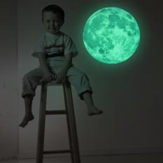 AUkEy 30 cm Moon Glow in the Dark Luminous Removable Wall Sticker Home Decor-Intl