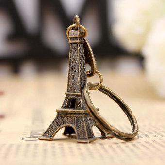 Autoleader nada perunggu patung miniatur menara Eiffel Paris Model Vintage dekorasi 5 cm - 2