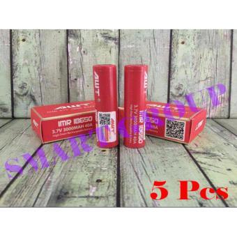 AWT 18650 Baterai 3000mAh 40A 3.7V ORI - Merah 5Pcs