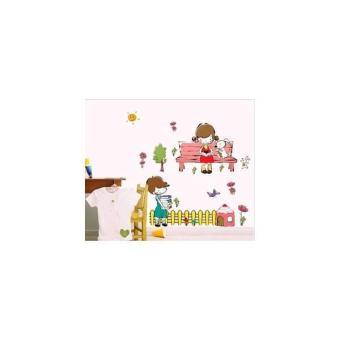 AY7256 : Boys & Girls Learning - Stiker Dinding / Wall Sticker(50X70)