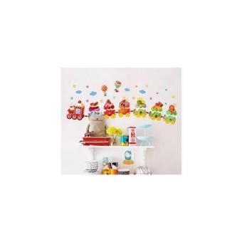 AY769 : Cake Train - Stiker Dinding / Wall Sticker (50X70)