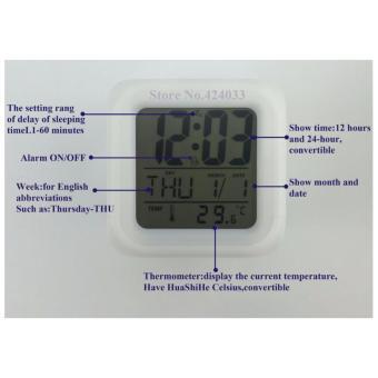 Baby Talk 7 LED Color Change Digital Glowing Alarm ThermometerClock - Jam  Alarm . 166f5d844e
