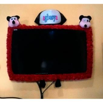 Bando / Cover / Bandana Aksesoris TV 2 Kepala Boneka Karakter Mickey 42 inchi [MERAH] - 2