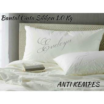 Bantal Silikon Jumbo Uk 45x95cm Standard Hotel - JESSELYNE Padat Anti Kempes 1000gram