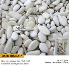 Batu Hias White Oval A7