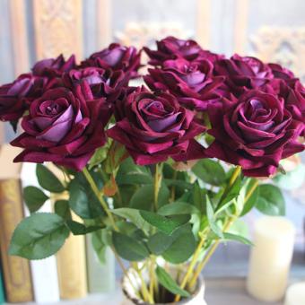 Beludru Mawar Semi Palsu Buatan Bunga Hydrangea Yang Pernikahan Dekorasi Kamar
