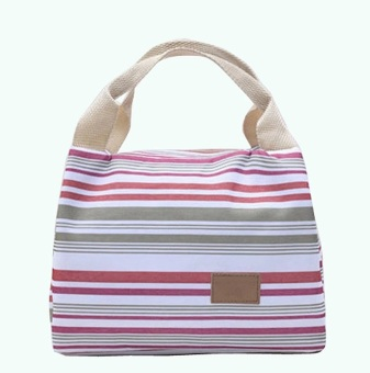 Best Strip-Lunch Bag Cooler Bag Tas Bekal Makan INSULATED Thermal- Abu