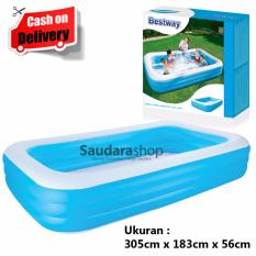 Bestway 54009 Deluxe Jumbo Rectangular Pool Blue [305cm x 183cm] / Kolam Renang Keluarga Jumbo Size