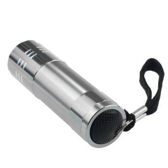 Bigskyie Sembilan Lampu Kecil LED Senter Tahan Air Yang Dapat FokusLampu Cahaya Perak - 2