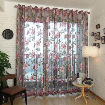 Tulip Cetak Kain Tule Tirai Jendela Berwarna Merah Muda. Source · Bluelans(R) 100 cm x 200 cm (batang atas) bunga bordir tekstil