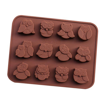 Bluelans Silicone Owl Cake Decor Mould Cookies Chocolate SoapBaking Mold Tool