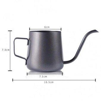 BolehDeals Gooseneck Narrow Spout Hand Drip Coffee Pot StainlessSteel Kettle 240ml - intl - 2 ...