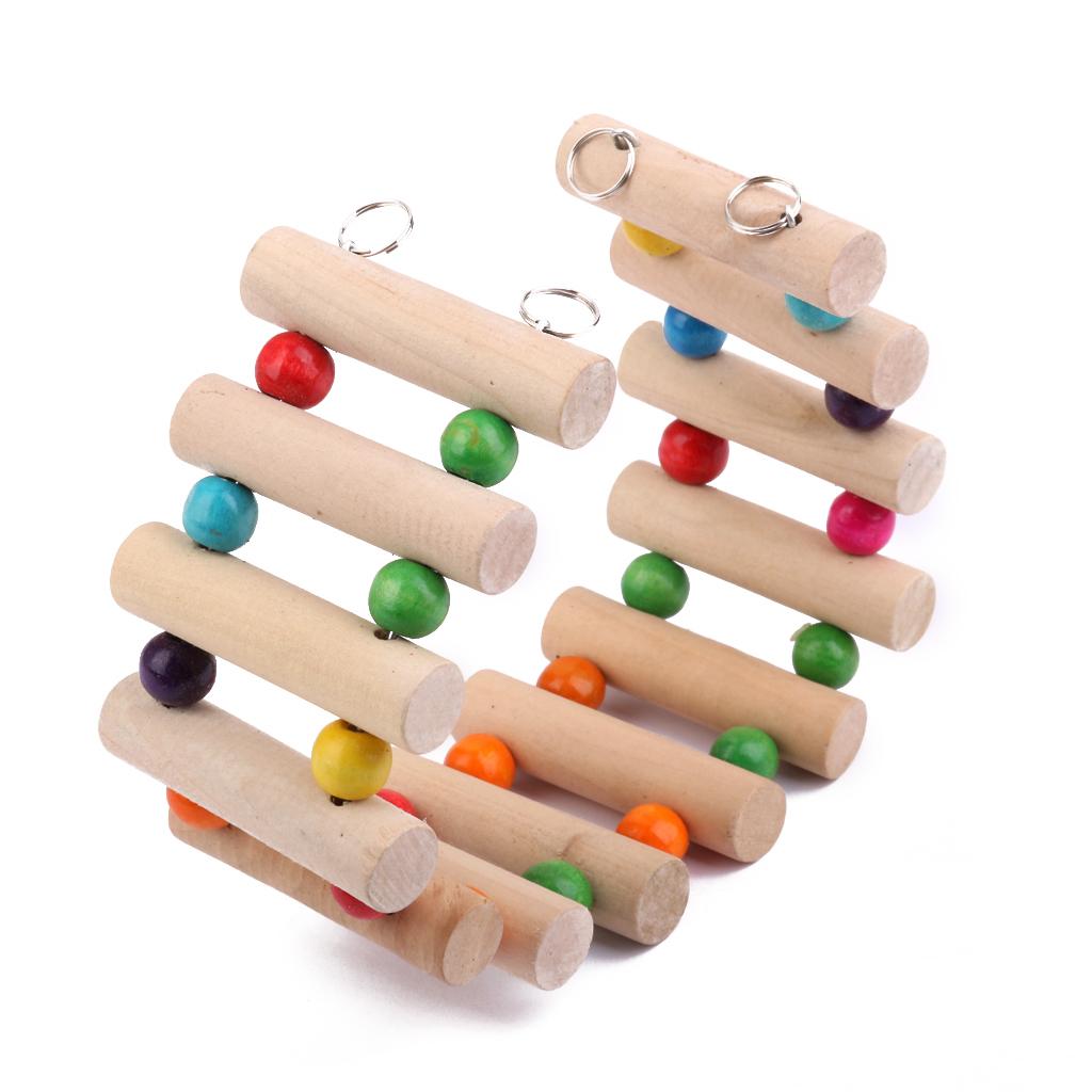 BolehDeals Mainan tangga, jembatan kayu 30 cm untuk Hamster BurungBeo Burung Kenari Hewan Pengerat