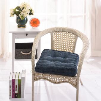 BolehDeals Niblet Mobil Desain Rumah Kantor Sofa Kursi NyamanBantal Bantalan Kursi Persegi Biru - 3