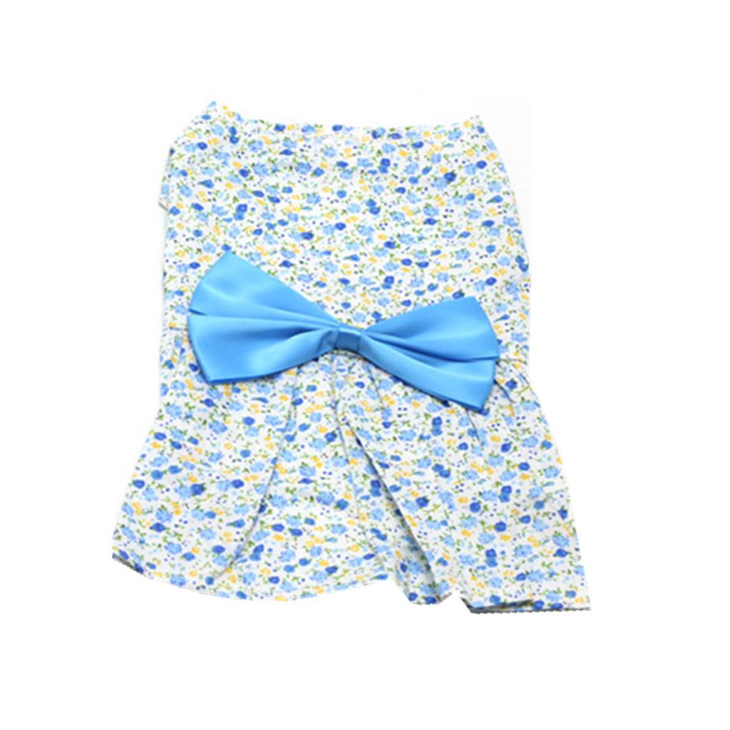 BolehDeals rok gaun pakaian baju kostum Princess untuk anjingpeliharaan kucing berwarna biru XL