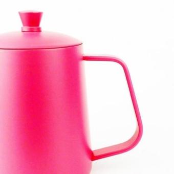 ... BolehDeals Stainless Steel Hand Drip Coffee Pot Pour Over GooseneckKettle 600ml Pink - intl - 3 ...