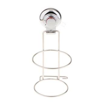 BolehDeals Suction Hair Dryer Holder Shelf Wall Hanging Hair Dryer Organizer Shelf Rack - intl