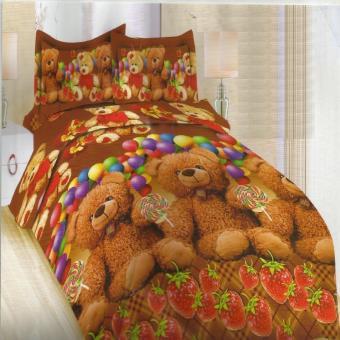 Bonita Sprei Queen 3D Motif Bear House - 160x200 cm. >>>>