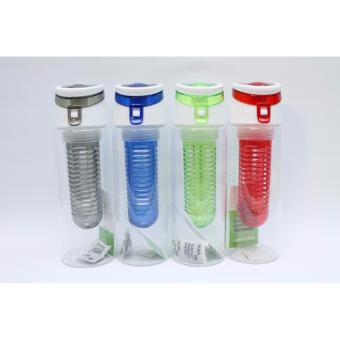 Botol Infused Water Tritan New Model - Botol Minum Buah - Water Bottle With Fruit Infuser