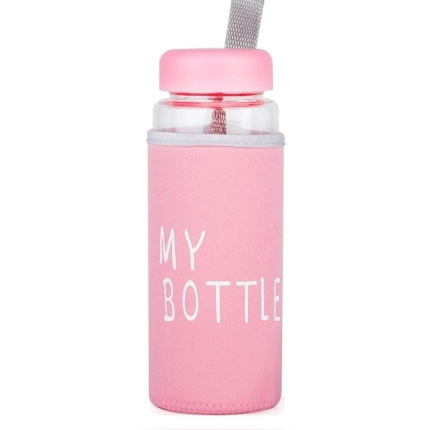 Kaca Transparan 500 ml pink Source Botol Minum Air My Bottle Doff Free .