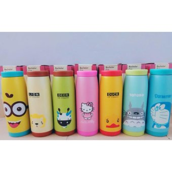 ... Botol Minum Termos Air Karakter Animal Stainless Steel 500 ml Babamu Random
