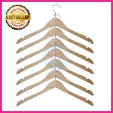 BPD Hanger Kayu Gantungan Baju Kayu Natural Ekslusif Isi 6 pcs