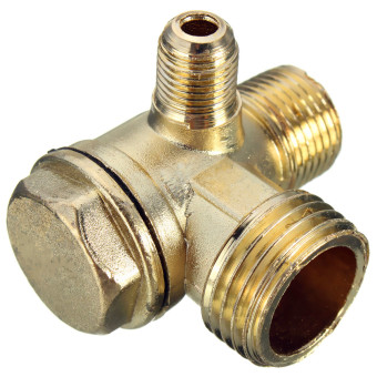 Brass Male Threaded Check Valve Connector for Air Compressor D:5mm/10mm/15mm NEW - intl