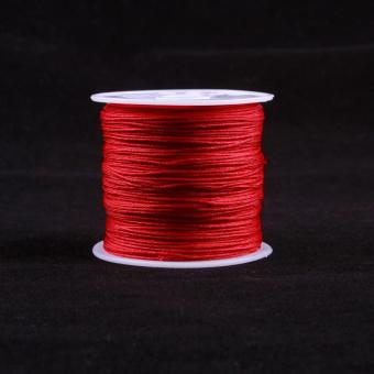 BUYINCOINS 1 gulungan 45 m tali nilon benang simpul cina Macramegelang tali kepang 0,8mm_multicolor - Internasional - 4