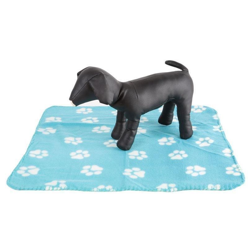 Cakar Indah Hewan Peliharaan Kucing Anjing Flanel Lembut Selimut Tikar (biru) LALANG