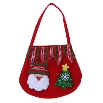 Candy Gift Bag Cute Storage Christmas Decoration Bag(Red) - intl