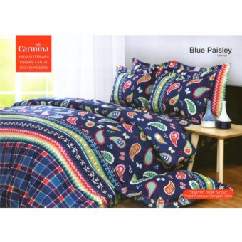 Carmina Sprei Set Blue Paisley Single Size 120x200
