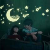 Cartoon Moon Star City Glow In Dark Luminous Fluorescen Wall DecalSticker Decor - intl - 3