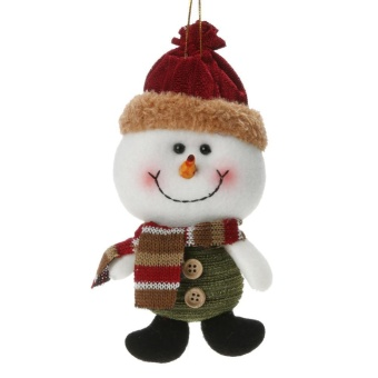 Christmas Decoration Artificial Reindeer Snowman Santa Claus Christmas Gift(Multicolor)-Snowman - intl