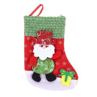 Christmas Gift Bag Velvet Christmas Stocking Bag Sack Storage Bag Decoration(Multicolor)-Santa Claus - intl