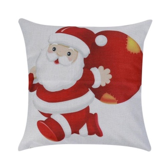 Christmas Pillow Case Sofa Waist Throw Cushion Cover Xmas Home Decor Gift(Red) - intl