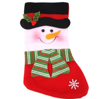 Christmas Stocking Xmas Decorations Children Gift Candy Bag Socks Tree Decoration(Red) - intl