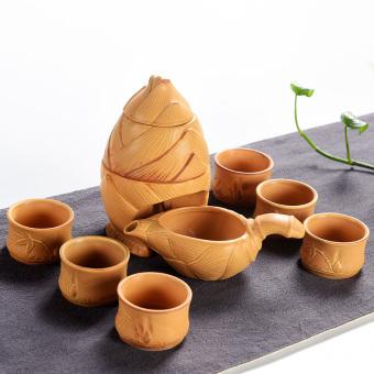 Cishen Jianyue keramik kung fu teh teko cangkir