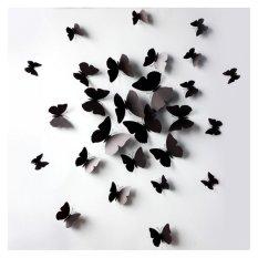 Rp 38.000. Coconiey 12 buah 3D Wall stiker Magnet kulkas kupu-kupu untuk dekorasi rumah hitamIDR38000. Rp 38.288