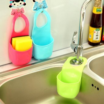 Creative Tank Hanging Basket Kitchen Sink Drain Basket BathroomShelf Storage Hanging Bag Home Must Have 58g - intl