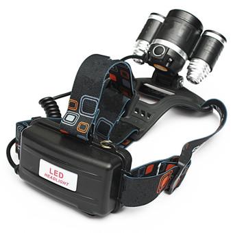 CREE Lampu Senter Kepala 5000 lumen xM-L 3 x T6 LED lampu depancahaya obor