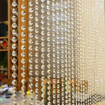 Crystal Glass Bead Curtain Luxury Living Room Bedroom Window DoorWedding Decor - intl