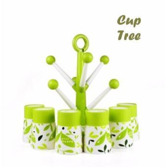 Cup Tree Isi 8 Gelas + 1 Holder Set Gelas Berbentuk Pohon - 2