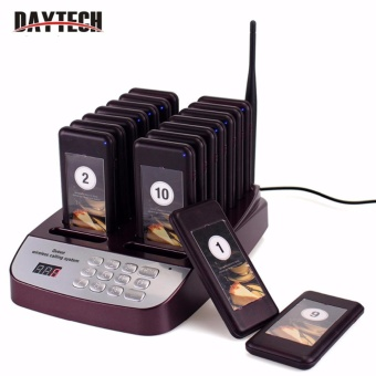 DAYTECH Restaurant Pager Wireless Paging Queuing System 16 Call Coaster Pagers Restaurant Equipment - intl