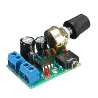 DC 3V-12V LM386 Audio Power Amplifier Board 5V Mini AMP Module Adjustable Volume - intl