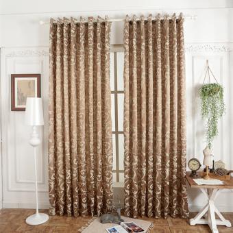 Desain mewah pintu dapur kamar tidur tirai gorden semi pemadamantirai jendela untuk balkon krim